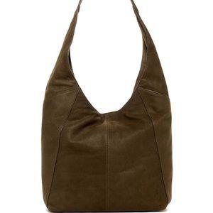 Lucky Brand Leather Hobo Shoulder Bag Olive green